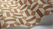 Флизелиновые обои пр-во Великобритания коллекция Seville от Cole & Son, геометрический рисунок под названием Alicatado в охристой гамме на белом фоне. Обои для гостиной, обои для кухни, обои для коридора. Купить обои в интернет-магазине, большой ассортимент, бесплатная доставка