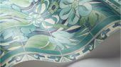 Флизелиновые обои пр-во Великобритания коллекция Seville от Cole & Son, с рисунком под названием Triana имитация расписанной керамической плитки преимущественно зеленый цвет. Обои для кухни, обои для гостиной, обои для коридора. Онлайн оплата, купить обои, большой ассортимент