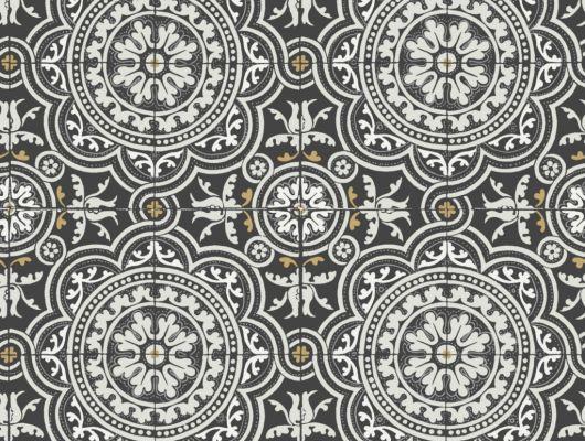 Флизелиновые обои пр-во Великобритания коллекция Seville от Cole & Son, рисунок под названием Piccadilly имитация керамической плитки в черно-белом цвете. Обои для кухни. Купить обои в интернет-магазине, бесплатная доставка, большой ассортимент, Seville, Новинки, Обои для кухни
