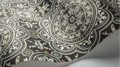 Флизелиновые обои пр-во Великобритания коллекция Seville от Cole & Son, рисунок под названием Piccadilly имитация керамической плитки в черно-белом цвете. Обои для кухни. Купить обои в интернет-магазине, бесплатная доставка, большой ассортимент
