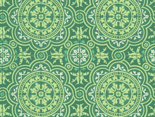 Флизелиновые обои пр-во Великобритания коллекция Seville от Cole & Son, рисунок под названием Piccadilly имитация керамической плитки в зеленом и белом цвете. Обои для кухни. Купить обои в интернет-магазине, бесплатная доставка, большой ассортимент, Seville, Обои для кухни, Хиты продаж