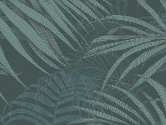 Обои Fardis - Maui  создают ощущение параллельного мира в с тропическими пальмами тихоокеанских стран. Арт. 117072 выполнен на фоне структурного металлика цвета красного моря с листьями бирюзовых оттенков, создающие ощущение глубины в пространстве. Салон обоев, магазин обоев, купить обои  в Москве., SHANGRI LA, Обои для гостиной, Обои для кабинета, Обои для спальни