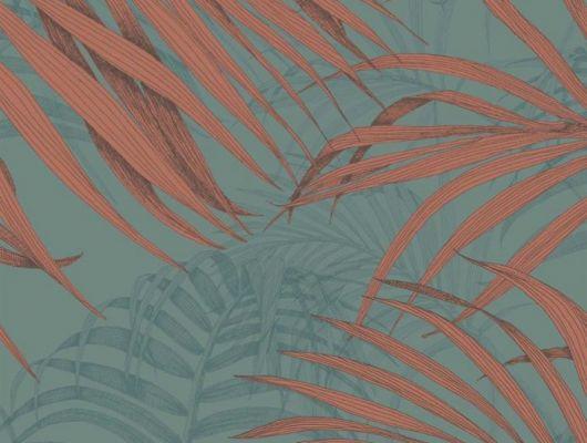 Обои Fardis - Maui  создают ощущение параллельного мира в с тропическими пальмами тихоокеанских стран. Арт. 117073 выполнен на фоне структурного металлика серо - синего цвета  с листьями лососевого и бирюзового оттенков, создающие ощущение глубины в пространстве. Английские обои, Обои Fardis, Каталог обоев., SHANGRI LA, Обои для гостиной, Обои для кабинета, Обои для спальни