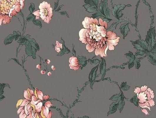 В интерьере представлены бои Fardis - Salome.Заимствованные из наших архивных дизайнов, эти розы шиповника с детально прорисованными лепестками, красиво извиваясь, плетут великолепный обойный узор. Яркие цвета создают поразительный эффект и в то же время дарят милое ощущение загородной жизни, которое легко дополнить интерьерными аксессуарами. Стильный интерьер, стильные обои, стоимость., CANTARI, Обои для гостиной, Обои для спальни