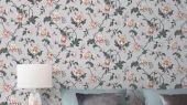 Обои Fardis арт. 11722, где розы шиповника на пастельном фоне лавандового цвета с детально прорисованными лепестками розовых тонов, красиво извиваясь, плетут великолепный обойный узор и в то же время дарят милое ощущение загородной жизни. Каталог обоев, обои для квартиры, обои на стену.