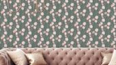 Обои Avril арт. 11728 от Fardis. Плавно изгибающиеся розовые и белые тюльпаны, на светло-сером фоне, в обрамлении листьев зеленых и серых оттенков - стремятся вверх и задают динамичный фон в интерьере. Посмотреть коллекцию, выбрать обои, заказать доставку.
