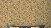Обои Delphine арт. 11735 от Fardis. Один из архивных дизайнов, послужил вдохновением для их создания, который напоминает старинный гобелен. Растительный орнамент в синих, красных, зеленых и горчичных тонах выполнен на фоне серого цвета. Стильный интерьер, стильные обои, стоимость.