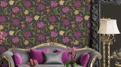 Обои Fardis - Eden арт. 11749 - это характер в Вашем интерьере, соответствующий стилистике движения искусств и ремёсел. Яркое сочетание цветочного орнамента в розовых, желтых и серых цветах на светлом фоне. Подобрать обои, растительный орнамент, цветы в интерьере.