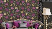 Обои Fardis - Eden арт. 11750 - это характер в Вашем интерьере, соответствующий стилистике движения искусств и ремёсел. Яркое сочетание цветочного орнамента в цветах охры, мадженты и зелени на темно-сером фоне. Выбрать обои в гостиную, обои в квартиру, флизелиновые обои.