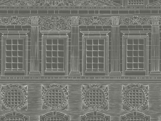 """Английские флизелиновые обои, арт. 118/15034 """"Wren Architecture"""", бренда Cole & Son , из коллекции Great Masters . Обои в гостиную, черно-белая графика. Архитектура Кристофера Рена . Купить в Москве с бесплатной доставкой, широкий ассортимент., HRP - Great Masters, Английские обои, Дизайнерские обои, Обои для гостиной, Обои для кабинета"""