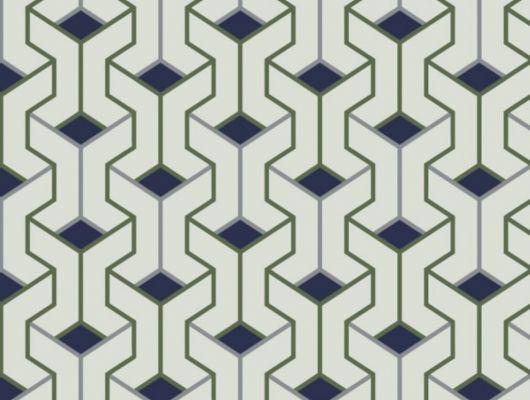 Купить обои с геометрическим рисунком в белом и синем цвете, купить в интернет-магазине Москва, GEO, Обои для гостиной, Обои для кабинета, Обои для спальни