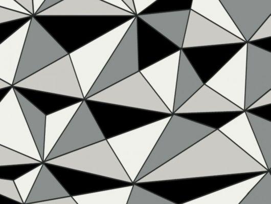 Обои с геометрическим 3D рисунком черно белого цвета Fardis GEO CUBISM, 3д обои, обои с доставкой на дом, обои под заказ, GEO, Обои для гостиной, Обои для кухни
