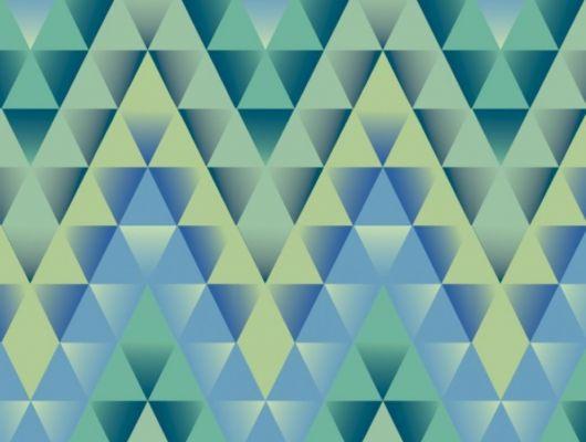 Обои виниловые на флизелиновой основе Fardis GEO FRACTAL для гостиной, с мелким геометрическим рисунком, в ярких тонах, зеленый и синий цвет, купить в Москве, доставка обоев на дом, оплата обоев онлайн, GEO, Обои для гостиной
