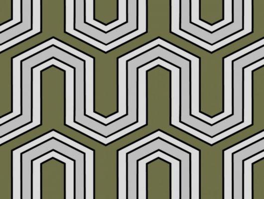 Обои флизелиновые  Fardis GEO VECTOR для гостиной, с крупным геометрическим рисунком, в зеленых и серых цветах, купить в Москве, доставка обоев на дом, оплата обоев онлайн, большой ассортимент, GEO, Обои для гостиной, Обои для кабинета