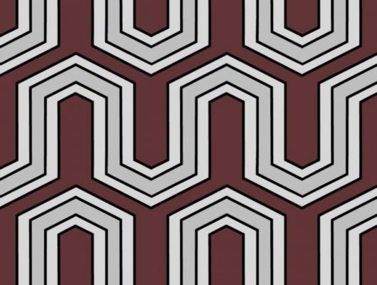 Обои флизелиновые  Fardis GEO VECTOR для гостиной, с крупным геометрическим рисунком, в бордовых и серых цветах, купить в Москве, доставка обоев на дом, оплата обоев онлайн, большой ассортимент, GEO, Обои для гостиной, Обои для кабинета