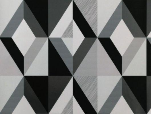 Обои виниловые на флизелиновой основе Fardis GEO HARLEQUIN для спальни, гостиной, с крупным геометрическим рисунком, в черно белых цветах, купить в Москве, доставка обоев на дом, оплата обоев онлайн, большой ассортимент, GEO, Обои для гостиной, Обои для кухни, Обои для спальни