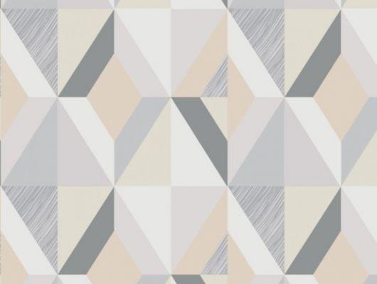 Обои виниловые на флизелиновой основе Fardis GEO HARLEQUIN для спальни, для гостиной, с крупным геометрическим рисунком, в пастельных тонах, в бежевых, белых и серых цветах, купить в Москве, доставка обоев на дом, оплата обоев онлайн, большой ассортимент, GEO, Обои для спальни