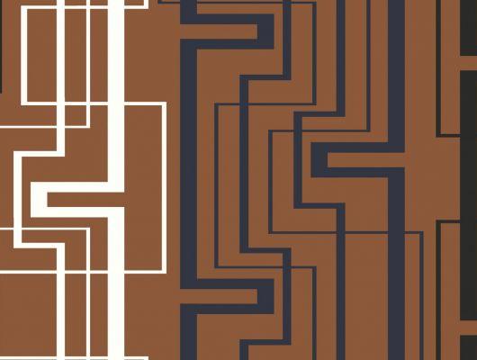 Обои виниловые на флизелиновой основе Fardis GEO NEWTON, для гостиной, с геометрическим рисунком, в оранжевых, белых и черных цветах, купить в Москве, доставка обоев на дом, оплата обоев онлайн, большой ассортимент, GEO, Обои для гостиной, Обои для кабинета