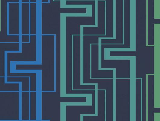 Обои виниловые на флизелиновой основе Fardis GEO NEWTON , для гостиной, с геометрическим рисунком, в темно-синих цветах, купить в Москве, доставка обоев на дом, оплата обоев онлайн, большой ассортимент, GEO, Обои для гостиной