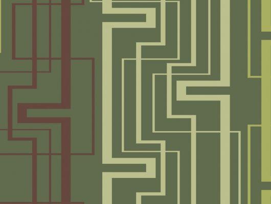 Обои виниловые на флизелиновой основе Fardis GEO NEWTON , для гостиной, с геометрическим рисунком, в зеленых цветах, купить в Москве, доставка обоев на дом, оплата обоев онлайн, большой ассортимент, GEO, Обои для гостиной