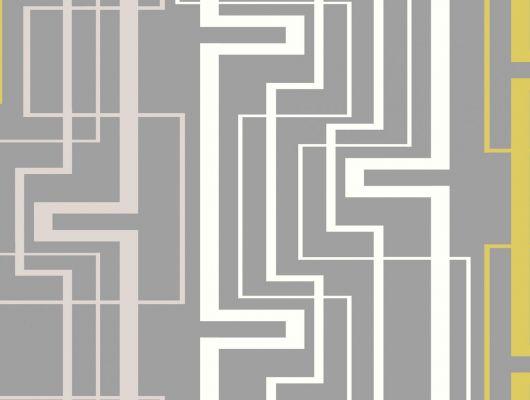 Обои виниловые на флизелиновой основе Fardis GEO NEWTON , для гостиной, с геометрическим рисунком на сером фоне, в черно белых цветах, купить в Москве, доставка обоев на дом, оплата обоев онлайн, большой ассортимент, GEO, Обои для гостиной, Обои для спальни