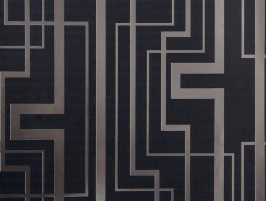 Обои виниловые на флизелиновой основе Fardis GEO TRACKS, для гостиной, геометрическим рисунком серебряного цвета, на черном фоне, купить в Москве, доставка обоев на дом, оплата обоев онлайн, большой ассортимент, интернет-магазин обоев, GEO, Новинки, Обои для гостиной, Обои для кухни