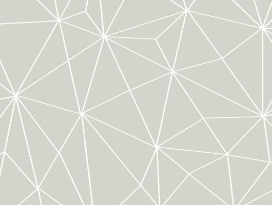 Обои виниловые на флизелиновой основе Fardis GEO SHARD, для гостиной,  для спальни, для кухни, с объемным геометрическим рисунком белого цвета, на бежевом фоне, купить в Москве, доставка обоев на дом, оплата обоев онлайн, большой ассортимент, интернет-магазин обоев, GEO, Обои для гостиной, Обои для кабинета, Обои для кухни, Обои для спальни