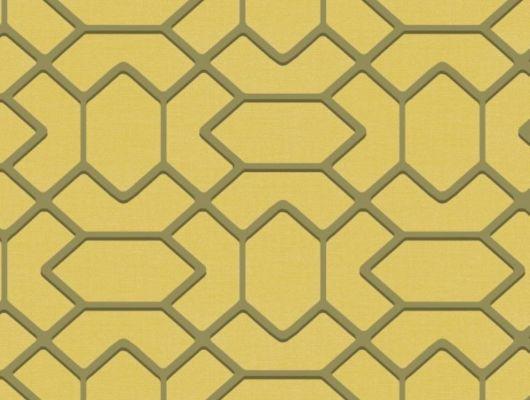 Обои виниловые на флизелиновой основе Fardis GEO HEX, для гостиной, для спальни, с геометрическим рисунком, под ткань, горчичного, желтого и коричневого цвета, купить в Москве, большой ассортимент, доставка обоев на дом, интернет-магазин обоев, оплата обоев онлайн, салон обоев, GEO, Обои для гостиной, Обои для кабинета, Обои для кухни, Обои для спальни