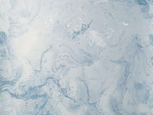 Обои виниловые с принтом  под мрамор на голубом фоне. Обои в ванную, обои в гостинную, абстрактные обои, обои с блеском,, DECO, Обои для спальни