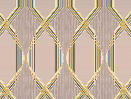 Обои для гостинной с крупным геометрическим орнаментом, состоит из линий, на розоватом фоне. Обои в кабинет, DECO, Обои для гостиной, Обои для спальни