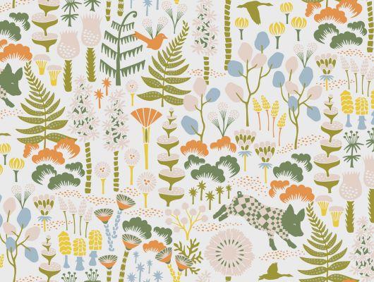 Светлые Дизайнерские обои от Ханны Вернинг с лесным мотивом купить в Москве., Wonderland, Детские обои, Дизайнерские обои, Обои для квартиры