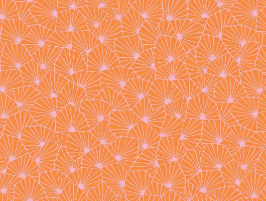 Обои с взрывным оранжевым цветом для ярких впечатлений, Wonderland, Детские обои, Дизайнерские обои, Обои для квартиры