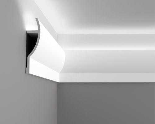 Карниз C372 - Fluxus  Orac Decor , Orac decor, Карнизы, Карнизы для скрытого освещения, Лепнина и молдинги, Молдинги, Назначение