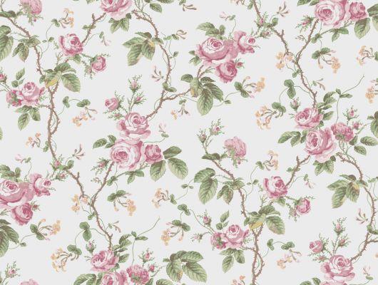 Обои для коридора с пастельно розовыми розами вырастят в вашем коридоре живую изгородь, A Vintage Book, Новинки, Обои для прихожей, Флизелиновые обои