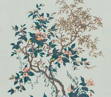 """Фотообои """"рай"""", с изображением птиц порхающих над кроной волшебного дерева., A Vintage Book, Архив, Обои для квартиры, Распродажа, Распродажные фотообои, Фотообои"""