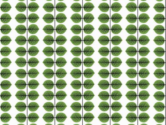 По весеннему свежие обои с сочным мотивом из зеленых листиков, Scandinavian Designers II, Дизайнерские обои, Новинки, Обои для квартиры, Обои для кухни