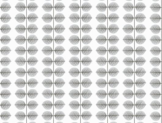Флизелиновые обои от дизайнера Стига Линдберга с мелкими серыми листиками, Scandinavian Designers II, Обои для квартиры, Флизелиновые обои