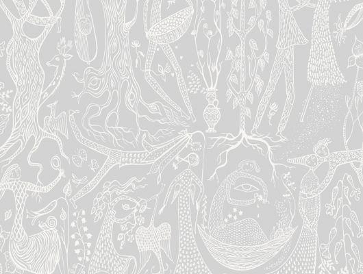 Обои из флизелина с потрясающе детализированным рисунком на светлом фоне, Scandinavian Designers II, Обои для квартиры, Флизелиновые обои