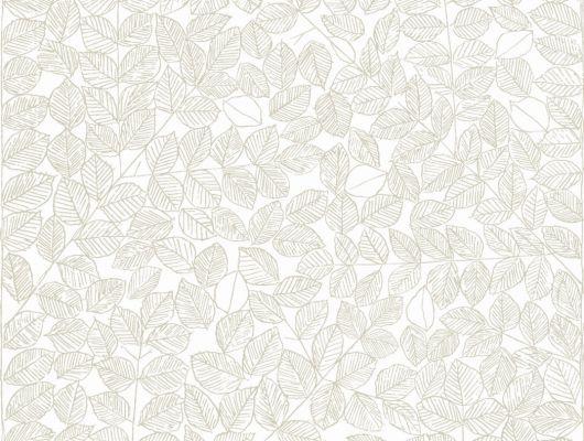 Бежевые листики на белом фоне создают атмосферу легкости в вашей квартире, Scandinavian Designers II, Обои для квартиры