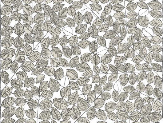Обои из флизелина с изображением желтых листьев на белом создают ощущение движения, которого нам не хватает в обыденной жизни, Scandinavian Designers II, Флизелиновые обои