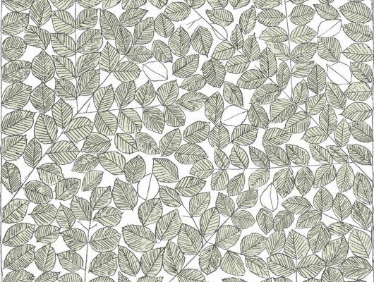 """Обои """"Романс"""" с рисунком из зеленых листьев безусловно оживят вашу комнату, Scandinavian Designers II, Дизайнерские обои, Обои для квартиры"""