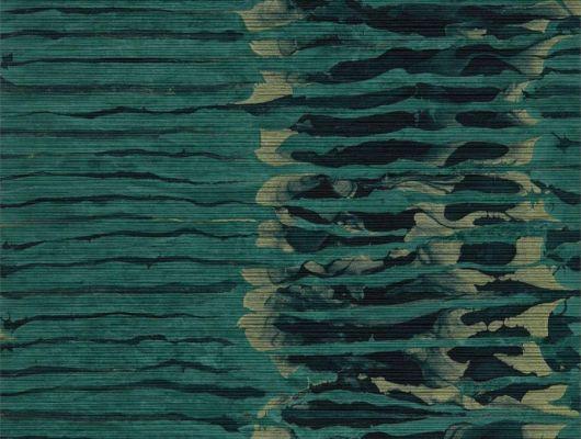 Выбрать английские обои для коридора, арт. 112579 из коллекции Anthology в полоску изумрудного цвета на сайте odesign.ru, Anthology 07, Обои для гостиной, Обои для кабинета, Обои для спальни