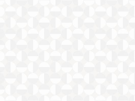 Стильные обои белого цвета от шведской фабрики BorasTapeter с геометрическим дизайном в виде кругов, Scandinavian Designers II, Обои для квартиры