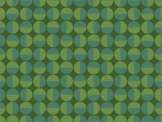 Свежие флизелиновые обои с орнаментом в виде зеленых кругов напоминающих горох для ваших стен, Scandinavian Designers II, Обои для квартиры, Флизелиновые обои