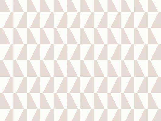 Обои с геометрическим рисунком в виде розовых трапеций, Scandinavian Designers II, Обои для квартиры