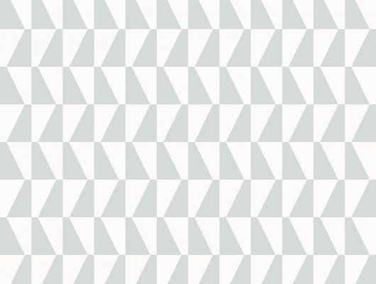 Трапецевидный орнамент на белом фоне на обоях для стен от BorasTapter, Scandinavian Designers II, Обои для квартиры