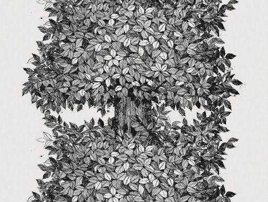 Заказать Флизелиновое панно из Швеции для спальни из коллекции Scandinavian Designers III от Borastapeter с черно-белым графическим рисунком изображающим орешник, с доставкой по Москве., Scandinavian Designers III, Обои для гостиной, Обои для кухни, Обои для спальни, Фотообои