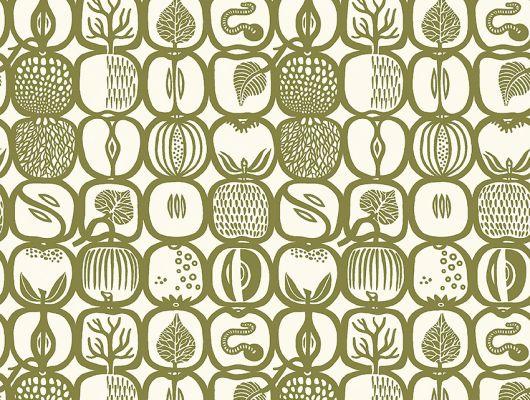 Найти флизелиновые обои из Швеции коллекция Scandinavian Designers III от Borastapeter под названием FRUKTLADA. Стилизованное изображение различных фруктов и ягод сформировано в геометрический узор и образует некую сетку со множеством мелких деталей., Scandinavian Designers III, Новинки, Обои для гостиной, Обои для кухни, Флизелиновые обои, Хиты продаж