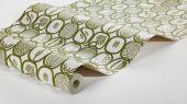 Найти флизелиновые обои из Швеции коллекция Scandinavian Designers III от Borastapeter под названием FRUKTLADA. Стилизованное изображение различных фруктов и ягод сформировано в геометрический узор и образует некую сетку со множеством мелких деталей.
