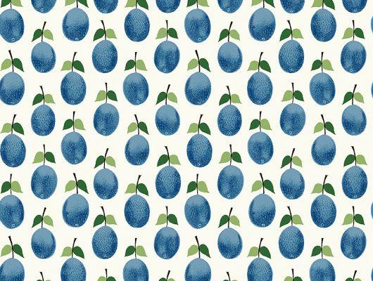 Флизелиновые обои из Швеции коллекция Scandinavian Designers III от Borastapeter под названием  PRUNUS.  Изображены сливы на белом фоне, с доставкой по Москве, Scandinavian Designers III, Обои для кухни, Флизелиновые обои, Хиты продаж